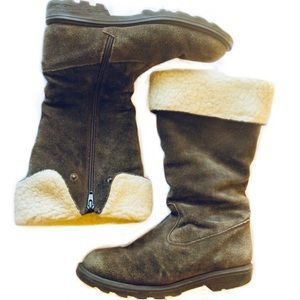 Boden Suede Roll Top Winter Boots